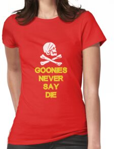 Goonies distressed Womens Fitted T-Shirt