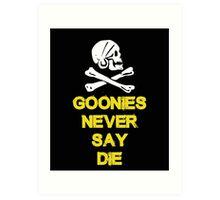 Goonies distressed Art Print