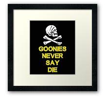 Goonies distressed Framed Print