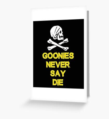 Goonies distressed Greeting Card