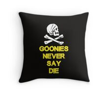 Goonies distressed Throw Pillow
