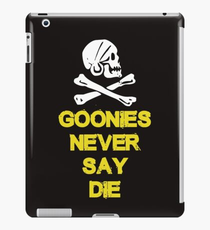 Goonies distressed iPad Case/Skin
