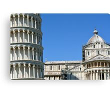 8 August 2016. Photography of monuments complex from Pisa, Italy. Canvas Print