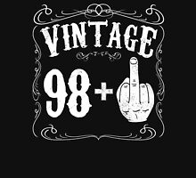 Vintage middle finger salute 99th birthday gift funny 99 birthday 1917 Unisex T-Shirt