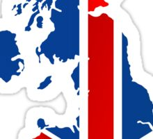 UK flag within country map Sticker