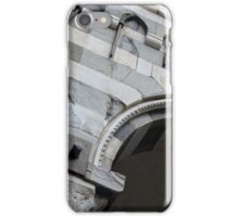 Detail of arcade from Genova with white and black marble stripes. iPhone Case/Skin
