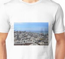 City of Genova seen from above. Unisex T-Shirt