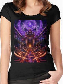 """""""The Key is within"""" Women's Fitted Scoop T-Shirt"""