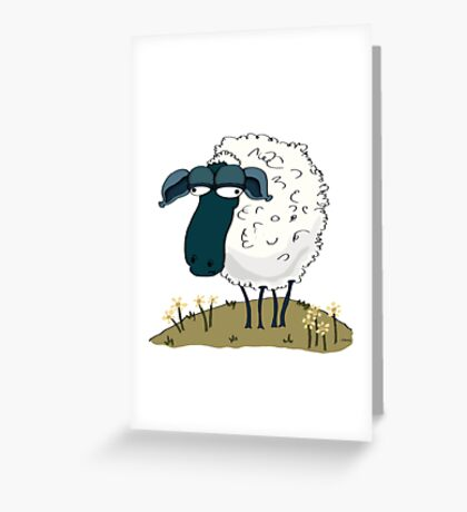 An Indifferent Sheep Greeting Card