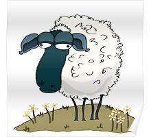 An Indifferent Sheep Poster