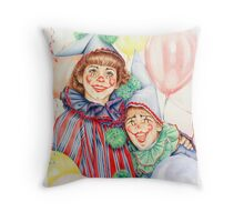 Clowns Happy Halloween! Throw Pillow