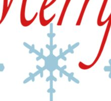 Merry Christmas Snowflakes Sticker