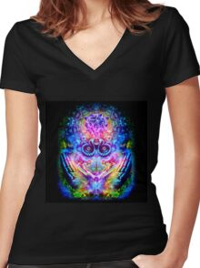 Transition to Butterfly Women's Fitted V-Neck T-Shirt