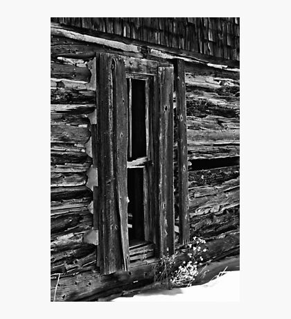Window On Another Time In Black And White Photographic Print
