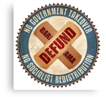 Defund Barack Obama Canvas Print