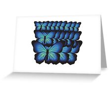 layer butterflies Greeting Card