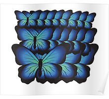 layer butterflies Poster
