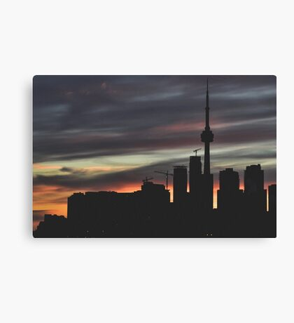 Urban Silhouettes Canvas Print