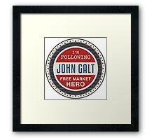 Vote President John Galt Framed Print