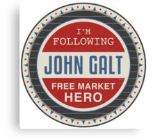 Vote President John Galt Canvas Print