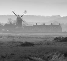 Hazy Windmill by TomGreenPhotos