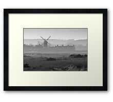 Hazy Windmill Framed Print