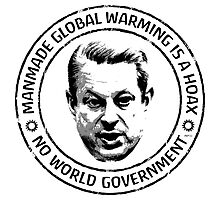 Manmade Global Warming Hoax Photographic Print