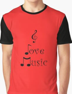 I Love Music - Retro Red Graphic T-Shirt