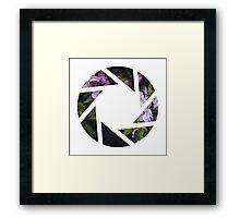 Aperture Floral Framed Print