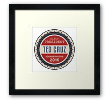Ted Cruz 2016 Framed Print
