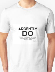 ardently do today what must be done - buddha Unisex T-Shirt