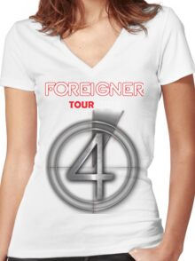 SEP01 Foreigner TOUR 2016 Women's Fitted V-Neck T-Shirt
