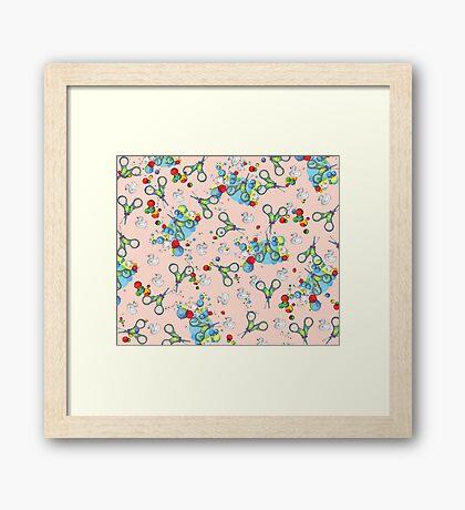 Mr. Scissors Framed Print