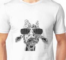 Funny Girrafe With Eyeglass Unisex T-Shirt