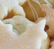 Traditional handmade Christmas biscuits Sticker