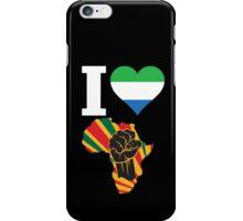 I Love Africa Map Black Power With Sierra Leone Flag iPhone Case/Skin