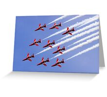 Red Arrows Forming Up Greeting Card