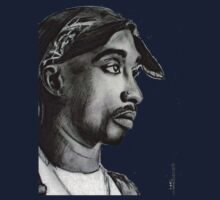 Tupac drawing Kids Clothes