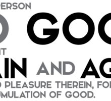 should a person do good, let him do it again and again - buddha Sticker