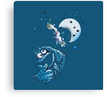 Cookie Monster And The Cookie Moon Canvas Print
