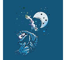 Cookie Monster And The Cookie Moon Photographic Print