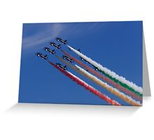 Climbing in Formation Greeting Card