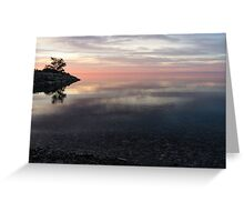 Silky Morning on the Lake - Pink and Purple Serenity Greeting Card