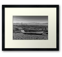 Boat and Mill Framed Print