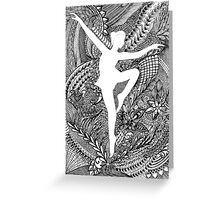 Zen Dance Greeting Card