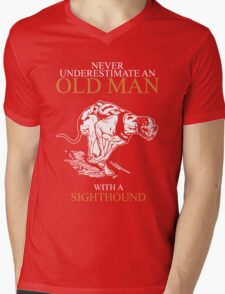 Never Underestimate An Old Man With A Sighthound T-shirts Mens V-Neck T-Shirt