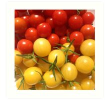 Red and Gold Cherry Tomatoes Art Print
