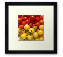 Red and Gold Cherry Tomatoes Framed Print