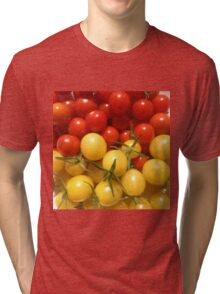 Red and Gold Cherry Tomatoes Tri-blend T-Shirt