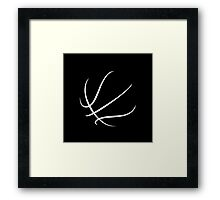 Basketball Outline Framed Print